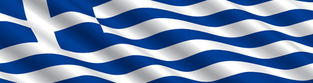 flag: Greek Flag in the Wind