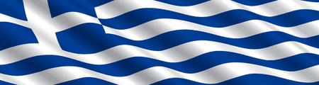 Griechischer Flagge im Wind Vektorgrafik