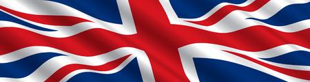 Bandera británica en el viento  Foto de archivo - 6975530