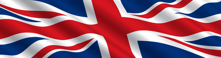 British Flag in the Wind Vector