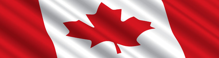 canadian flag: Canadian Flag in the Wind Illustration