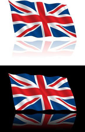 brytanii: Flagi brytyjskiej przepływającym