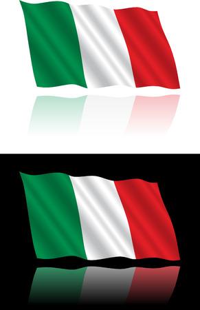 italian flag: Bandiera italiana deriva
