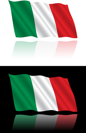 black flag: Italian Flag Flowing Illustration