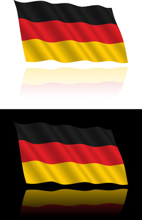 flapping: German Flag Flowing