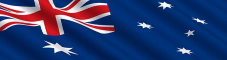flag australia: Australian Flag in the Wind