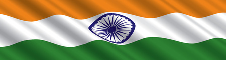 Indian Flag in the Wind