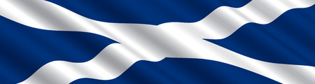 Scottish Flag in the Wind
