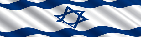 바람에 이스라엘 국기 일러스트