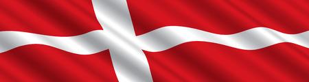 デンマークの旗が風に