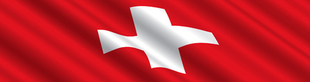 swiss flag: Swiss Flag in the Wind
