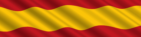 spanish flag: Spanish Flag in the Wind