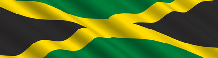 Jamaican Flag in the Wind Vector