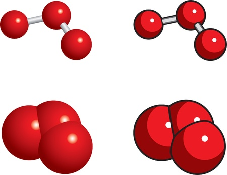 spachteln: Raum-F�llung, Ball und Stock-Modelle von Ozon