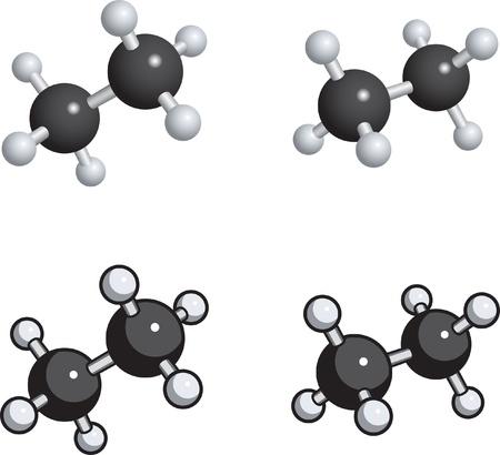 Un modelo de bolas y palo de etano. Foto de archivo - 9355996