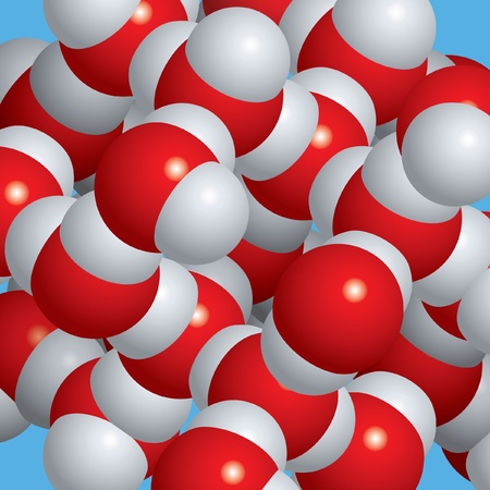 Spacefill model of ice molecules Illustration