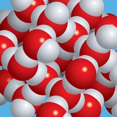 Spacefill Modell der Eis-Moleküle Standard-Bild - 9355993