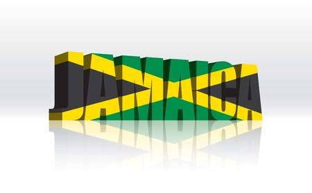 jamaica: 3D Jamaica Word Text Flag