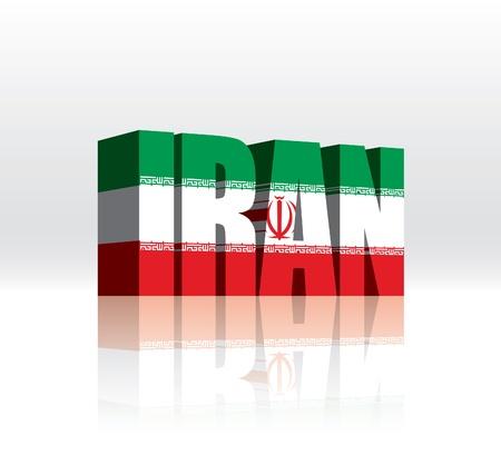 3D Iran Word Text Flag Stock Vector - 16173495
