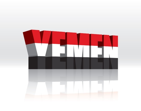 3D Vector Yemen Word Text Flag Stock Vector - 16272467