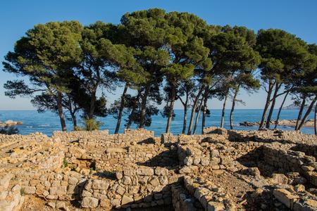 Greco roman ruins of Emporda, Costa Brava, Catalonia, Spain Stock Photo