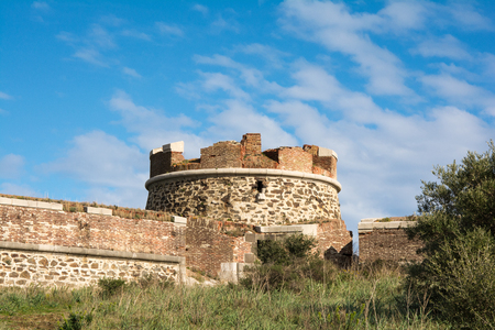Remains of a round fort in Collioure