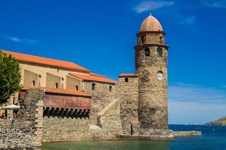 roussillon: Our lady of the angels Church in Collioure, France