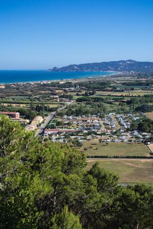 High view of Estartit bay on the Costa Brava of Catalonia