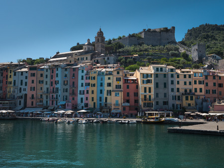 Buildings of Porto Venere on a sunny day 版權商用圖片