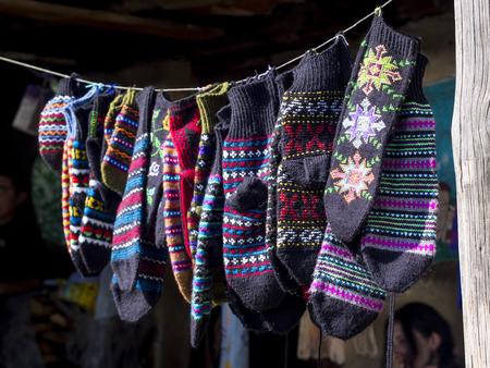 Georgian handmade souvenirs sold in Diklo village, Tusheti region