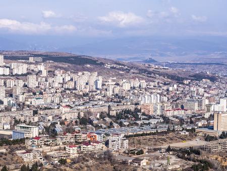 tbilisi: Panorama di Tbilisi, la capitale della Georgia Archivio Fotografico