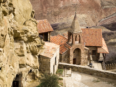 David Gareja, a rock-hewn Georgian Orthodox monastery complex located in the Kakheti region, Georgia  Reklamní fotografie
