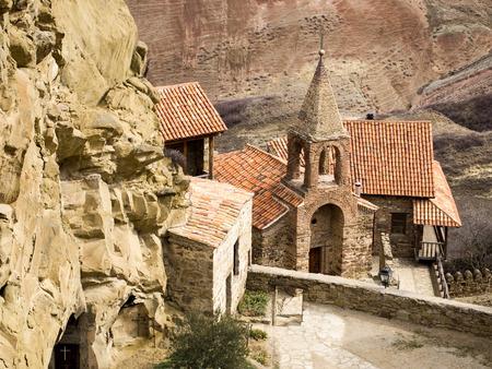 David Gareja, a rock-hewn Georgian Orthodox monastery complex located in the Kakheti region, Georgia  Stock Photo