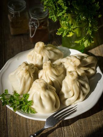Georgian meat dumplings called khinkali
