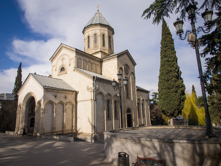 rustaveli:  The Kashveti Church of St  George in central Tbilisi, located across from the Parliament building on Rustaveli Avenue