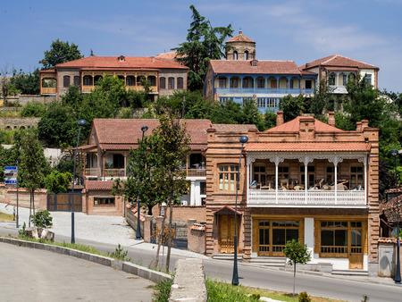 Center of Telavi in the Kakheti region, Georgia