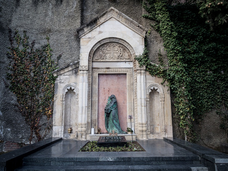 founding fathers: The grave of Ilia Chavchavadze in the Mtatsminda Pantheon, Tbilisi, Georgia  Ilia Chavchavadze is regarded as one of the founding fathers of modern Georgia