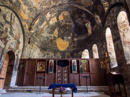 rustaveli: The Church of the Dormition in Vardzia cave city-monastery, Georgia