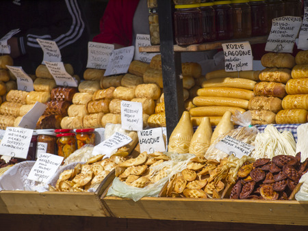 oscypek: Oscypek, traditional cheese from Polish mountains