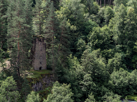defensive: Defensive tower close to Omalo, Tusheti region, Georgia  Stock Photo