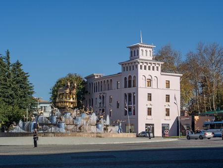 kutaisi: Piazza David Aghmashenebeli nel centro storico di Kutaisi, Georgia Editoriali
