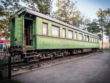 hometown: Railroad car of Stalin in front of the Museum of Stalin in his hometown Gori, Georgia, Caucasus  Editorial