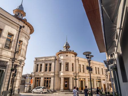 kutaisi: Strada Alexander Pushkin nel centro storico di Kutaisi, Georgia