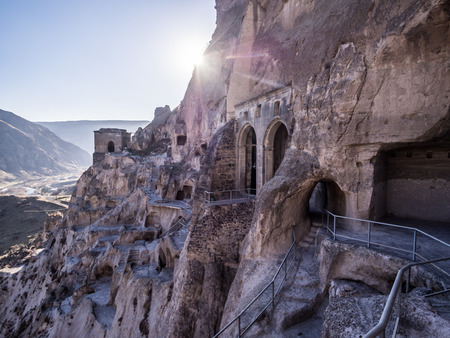 Vardzia cave city-monastery in Georgia  Vardzia was excavated in the Erusheti Mountain in the 12th century and is one of the main attractions of the country Imagens - 27451846