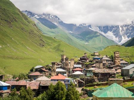 svaneti: Ushguli en alto Svaneti, Georgia