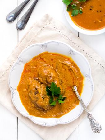 malai: Indian cuisine: malai kofta, vege-balls in a creamy cashew gravy.