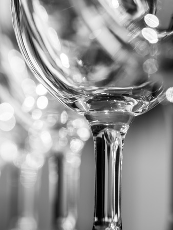 Wine glasses close up, black and white. Reklamní fotografie