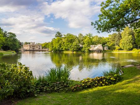 lazienki: Lazienki Royal Baths Park in Warsaw, Poland, in mid summer.