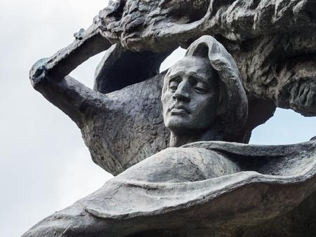Fryderyk Chopin Frederic Chopin monument in Lazienki Park Royal Baths Park in Warsaw, Poland.