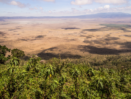 east africa: Ngorongoro Crater seen from the rim. Stock Photo